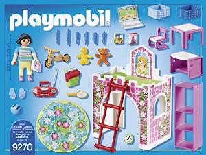 Habitación infantil de Playmobil detalle