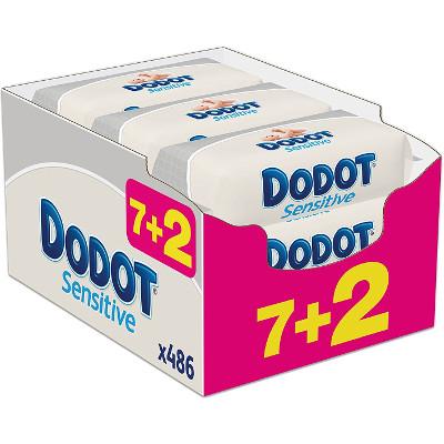 Pack con 9 paquetes de toallitas Dodot Sensitive
