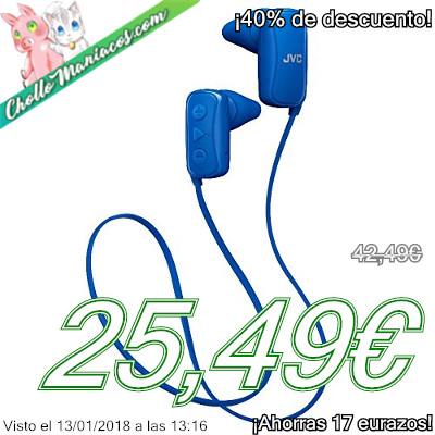 Auriculares internos Bluetooth JVC HA-F250BT-P-E