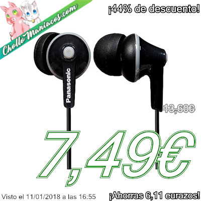 Auriculares Panasonic RP-HJE125