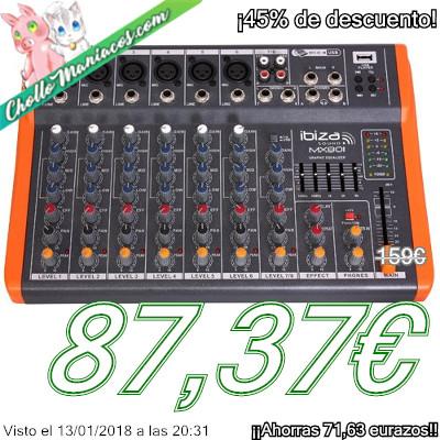 Mesa de mezclas Ibiza Sound MX801