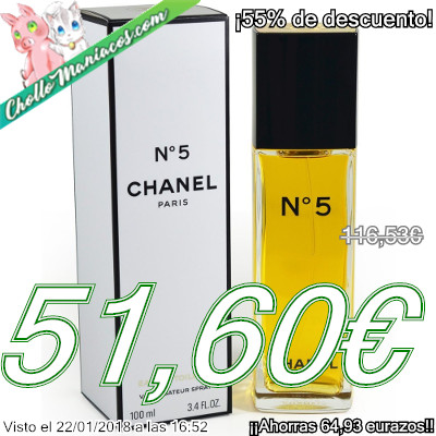 Perfume de 100ml Chanel Nº 5