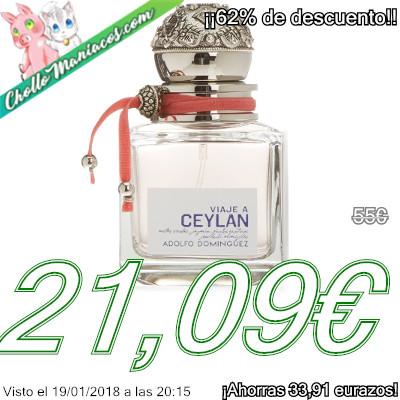 Perfume de 100ml Viaje a Ceylan de Adolfo Domínguez