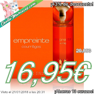 Perfume de 90ml empreinte courreges
