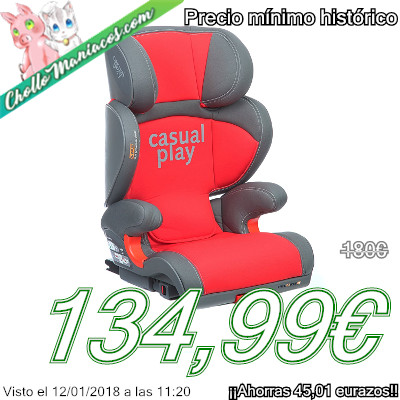 Silla de coche para el grupo 2 y 3 Casualplay Polaris Fix