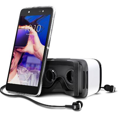 Smartphone Alcatel Idol 4 con gafas de realidad virtual
