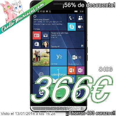 Smartphone HP Elite x3 con 4GB de RAM y 64GB