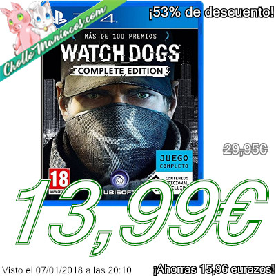 Videojuego Watch Dogs Complete Edition