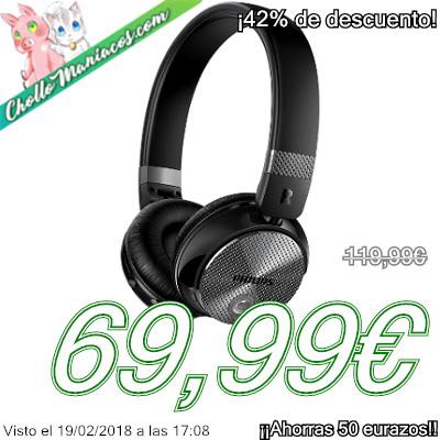 Auriculares inalámbricos con reducción de ruido Philips SHB8850NC 00