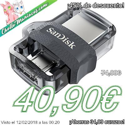 Memoria USB Dual Sandisk Ultra de 128GB