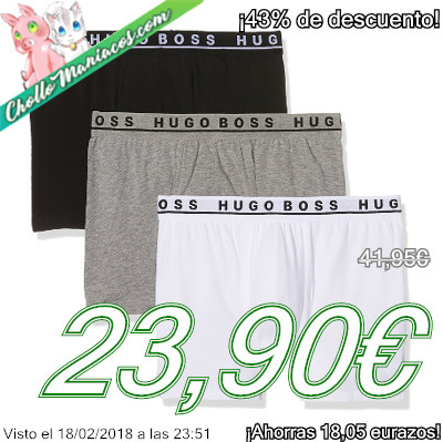 Pack de 3 calzoncillos boxer Hugo Boss