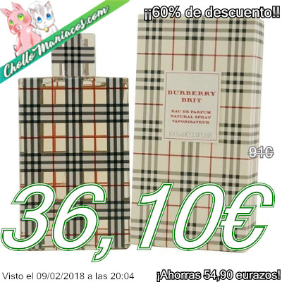 Perfume de 100ml Burberry Brit de Burberry