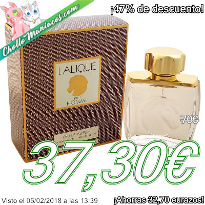 Perfume de 75ml Lalique Equus