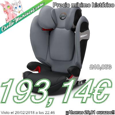 Rebajada silla de coche cybex solution s fix del grupo 2 y 3 por 193 14 precio m nimo - Mejor silla coche grupo 2 3 ...