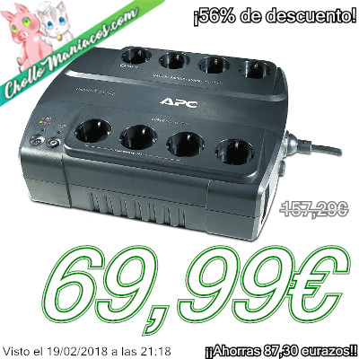 Sistema de alimentación ininterrumpida de bajo consumo APC Back-UPS modelo ES700