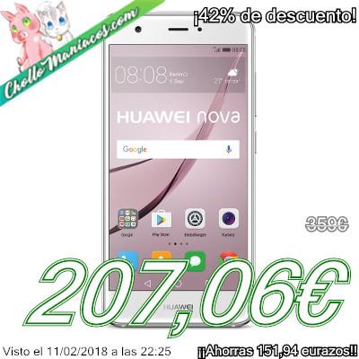 Smartphone con Dual SIM Huawei Nova con 3GB de RAM y 32GB